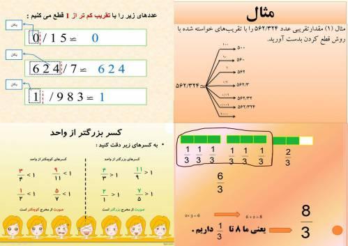 مجموعه پاورپوینت ریاضی(تقریب و کسرهای بزرگتر از واحد)
